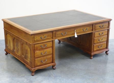 Antique Partners Desks- Antique Large Mahogany Partners Desk - Large Antique Mahogany Partners Desk Ref 1019