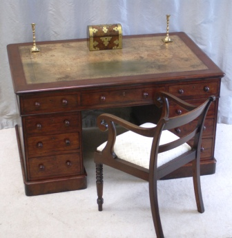 Antique Partners Desk by Fitch of London