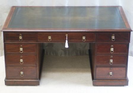 Antique Georgian Partners Desk