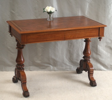 Antique Satinwood Writing Table by Miles & Edwards