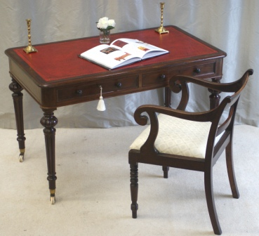 Antique Mahogany Writing Table by Heal & Son