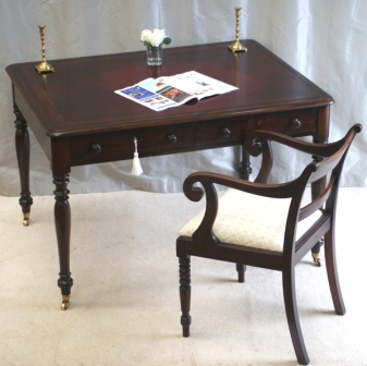 Antique Library Tables - Antique William IV Library Table