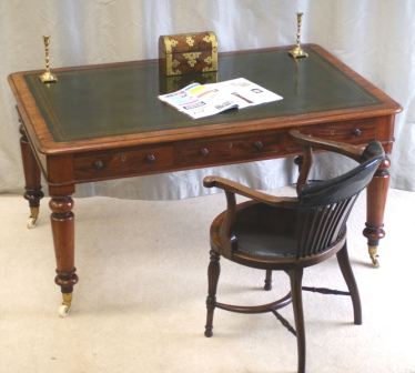 Superb Six Drawer Antique Library Table - FOR SALE by Antiquedesks.net