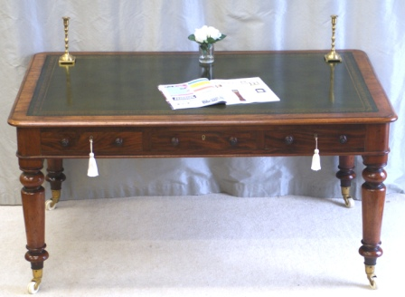 Victorian Six Drawer Library Table - FOR SALE