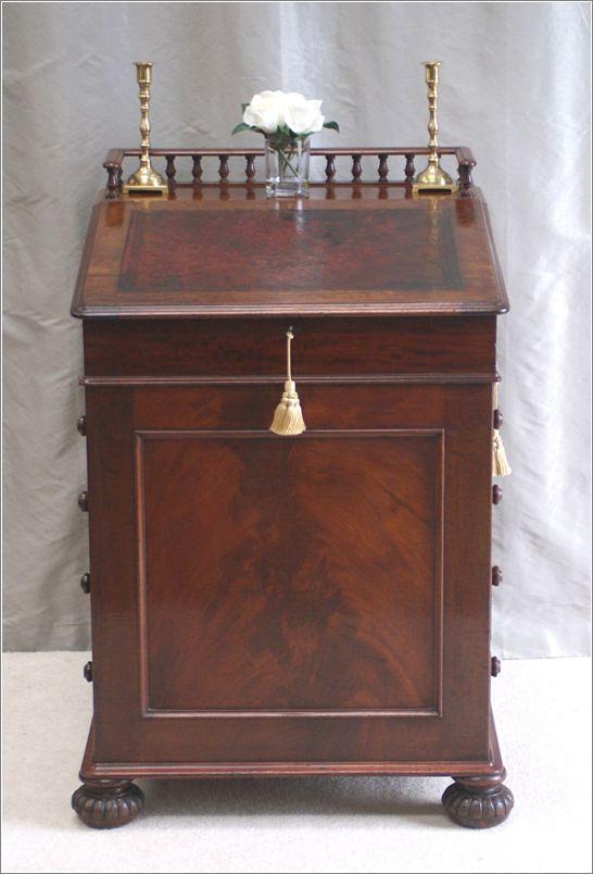 4021 Antique Early 19thc Davenport Desk J Winter London