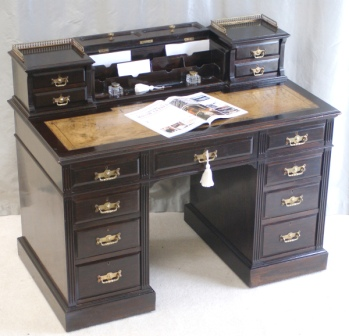 Antique Writing Desk by Maple and Co London