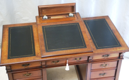 Antique Walnut Dickens Desk - Bulstrode - Antiquedesks.net