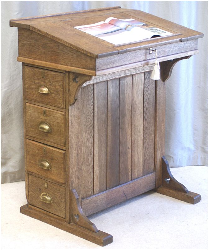 4034 Antique Oak Clerks Desk, Lectern, Reception Desk. Antiquedesks.net 0560 175 2007 and 0754 ...