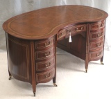 Antique kidney shaped desk