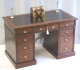 Antique Pedestal Desk by Shoolbred London