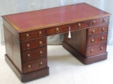 Click for full details - Large Walnut Pedestal Desk