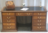 Click for full details - Solid Oak Pedestal Desk