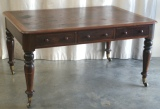 Antique Mahogany Library Table - Before