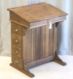 Click for full details - Top Quality Antique Oak Clerks Writing Desk, Lectern
