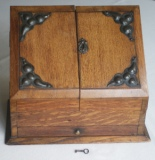 Antique Desk Accessories -  Antique Arts and Crafts Oak Stationery Box