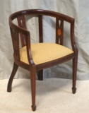 The Ultimate Accessory - A Beautiful Antique Inlaid Mahogany Desk Chair
